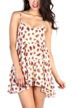 Rose Floral Sheer Lace Dress - Ivory #dress #dresses #trendy