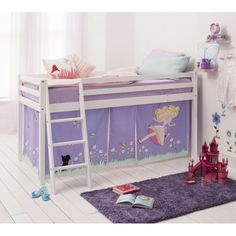 Annabel Tent for Cabin Bed | £59.99 | Noa and Nani | #Princess # & Princess Fairytale Cabin Bed with Tent Tunnel u0026 Mattress ...