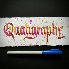 Qualigraphy, inspired by my good friend @fralligraphy and his amazing and colorful letters