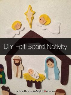 DIY Felt Nativity Pattern is part of Christmas crafts Nativity - It's been so long since I've posted! That's what happens when you get a new job that you love and move across the country and still try to be a good wife and mother Phew! Nativity Ornaments, Nativity Crafts, Diy Christmas Ornaments, Nativity Scenes, Felt Ornaments, Diy Christmas Nativity Scene, Preschool Christmas, Christmas Crafts For Kids, Christmas Fun