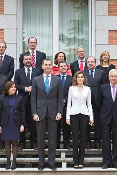 Spanish Royals Attend A Meeting For Miguel de Cervantes IV Centenary at Zarzuela Palace on April 14, 2016 in Madrid, Spain.