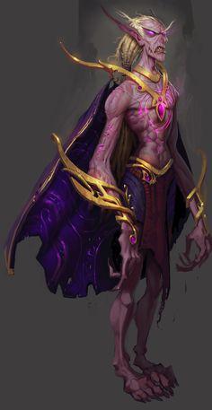 Warcraft Fan Art Gallery - Nightfallen Male Sketch  ArtStation - Nightfallen, Tyson Murphy