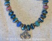 Ocean Blue Yoga Meditation Bracelet, Ocean Jewelry, Yoga Bracelet, Meditation Bracelet, Bohemian Jewelry - pinned by pin4etsy.com