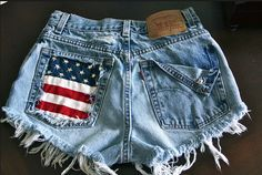 {f}ive times the fun: DIY Distressed Denim Shorts