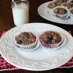 Healthy Berry Muffins by calculustocupcakes
