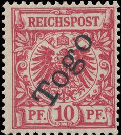 Togo 1897. German Stamps Surcharged 'Togo'. 10 Pfennig