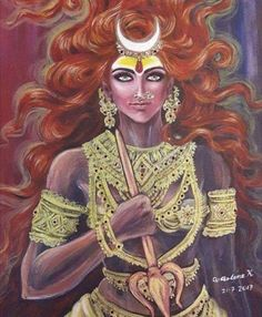 Image may contain: one or more people Durga Goddess, Goddess Art, Saraswati Goddess, Kali Goddess, Durga Kali, Shiva Parvati Images