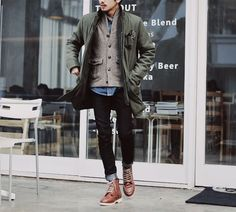 layered + textured // casual menswear fall style + fashion