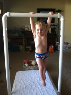 Indoor monkey bars that grow with your child