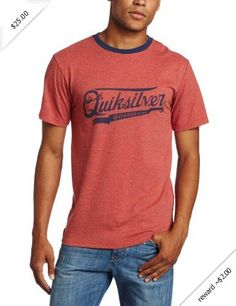 Quiksilver Men's Moonshine Tee, Tomato Red, X-Large