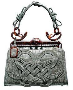 1947 Dior Alligator Samourai Bag, via House of Dior.