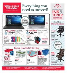 Searching Office Depot Weekly Ad OfficeMax Ad Flyer this week valid February 25 – March 3, 2018. Customers can buy any office supplies, office furniture, office products, & technology, paper, ink, toner & more, and find trusted brands at everyday low prices.          ...