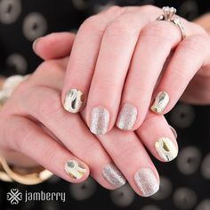 "Brand NEW gorgeous nail wraps are in store now!!! This is the stunning metallic ""appliqué"" Jamberry nail wraps, non toxic, gluten free and vegan make this nail art a must for the Autumn season. Get your pretty on by clicking this picture to shop!"