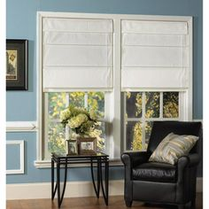 @Overstock.com - Snow White Thermal Fabric Roman Shades - Save energy by keeping your temperature even with these insulating thermal fabric Roman shades. The polyester shades come with all the hardware you need to install them quickly. With their white coloring, they're sure to match your room.  http://www.overstock.com/Home-Garden/Snow-White-Thermal-Fabric-Roman-Shades/7924333/product.html?CID=214117 $49.99