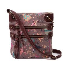 Shop for Womens 2 Zip Bird Crossbody Handbag in Multi at Journeys Shoes. Put a bird on it! Its a super cute canvas crossbody bag featuring faux leather trim and allover multicolored bird print grpahics. Includes a zip closure, dual zip front pockets, and adjustable crossbody strap