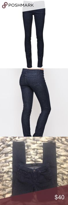 """J brand Mid Rise Jeans J BRAND 8112 mid-rise rail jean in Eclispe.....Size 25.....31"""" Inseam Excellent condition !!!                               Description...These slim, mid-rise jeans in a classic medium blue wash are a great alternative to a super-skinny style. True straight leg fit and five-pocket styling. By J Brand.  • 92% Cotton, 7% Polyester, 1% Spandex/Elastane • Made in USA  Color: Eclipse J Brand Jeans Skinny"""