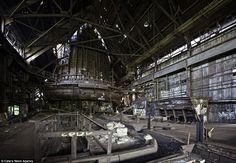 blast furnace of the Carrie Furnaces in Rankin, Pennsylvania