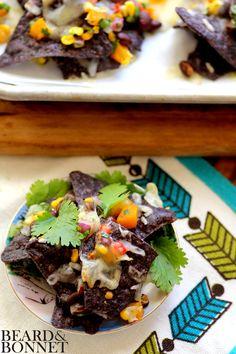 Game Day Salsa and Individual Nachos {Beard and Bonnet} #glutenfree #vegan