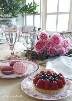 Cheery pink flowers, dainty vintage china and a romance novel or two usually provide the right amount of romance.