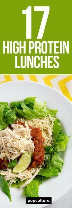 17 high protein lunch recipes to keep you full and help with weight loss. Popculture.com #highprotein #lunchtime #recipes #lunchrecipes #healthyliving #food #weightloss #dieting #weightwatcherpoints