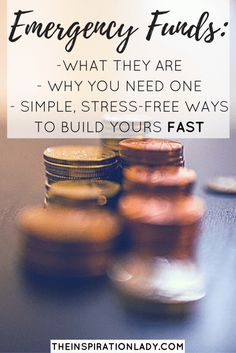 All about emergency funds and simple stress-free ways you can build yours fast.