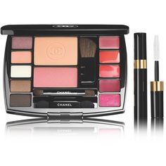 TRAVEL MAKEUP PALETTE ESSENTIELS DE MAQUILLAGE AVEC MASCARA DE VOYAGE ❤ liked on Polyvore featuring beauty products, makeup and palette makeup