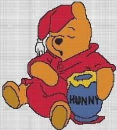 CROCHET PATTERNS WINNIE THE POOH AFGHAN GRAPH E-MAILED.PDF CROSS
