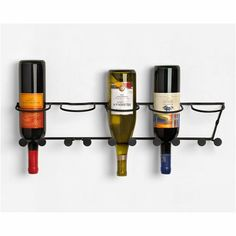 The Spectrum Horizontal 5 Bottle Wall Mount Wine Rack definitely has a unique look. But what many people don't know is that storing your wine bottles. Bottle Wall, Wine Bottle Holders, Wine Bottles, Bordeaux, Wall Hanging Wine Rack, Wall Hooks, Dining Room Wall Decor, Wine Storage, Looks Cool