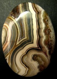 Agates are another favorite stone that has many variations, and when cut and polished up, you can have a beauty like this.