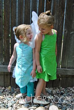 My Pixie Hollow: Tinker Bell and Periwinkle Costume Set from Disney's Fairies in Sizes 2T, 3T, 4T, and 5