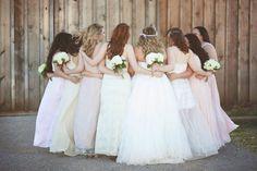 1.4.14 Heather Armstrong Photography. Ponderosa Ridge Ranch Anderson, Ca. Winter Barn Wedding. Cream, blush, neutral Bridesmaids.