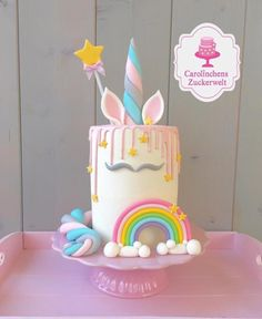 Unicorn+Cake++-+Cake+by+Carolinchens+Zuckerwelt+