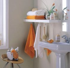 Bathroom Storage Ideas Cool and Simple Bathroom Storage Idea for a small space