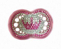 Baby bling/princess crown binky. Adorable!