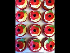Poppy cupcakes Themed Cupcakes, Poppy, Cupcake Cakes, Desserts, Food, Postres, Deserts, Cup Cakes, Hoods