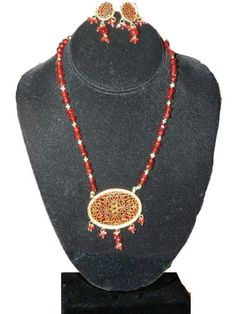 Thewa Jewelry for Womens Gold Plated Ruby Red Beads Necklace Earring Set Mogul Interior,http://www.amazon.com/dp/B00841HGKO/ref=cm_sw_r_pi_dp_keI4rb0Y0YXPVXKR