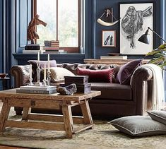 Chesterfield Leather Sofa #potterybarn
