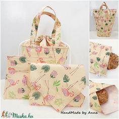 ÖKO Kids bag set - flamingók uzsonnás táska szett - NoWaste csomagolás! (annetextil) - Meska.hu Bagan, Box, Gift Wrapping, Tote Bag, Zero Waste, Kids, Handmade, Gift Wrapping Paper, Young Children