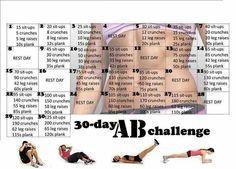The 30 Day Abs Challenge - Hot Or Not A brand-new health and fitness difficulty has actually just recently swept via social media. It is called the 30 day AB challenge and it lays out a Thirty Days Fitness Herausforderungen, Sport Fitness, Fitness Models, Health Fitness, Workout Fitness, Fitness Weightloss, Workout Diet, Squats Fitness, Fitness Plan