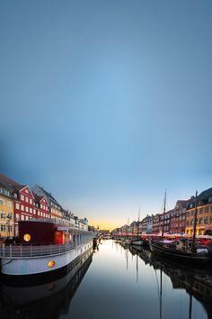 "Nyhavn, ""New Harbor"", a part of Copenhagen, Denmark"