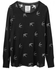 Zoe Karssen Birds linen long sleeve
