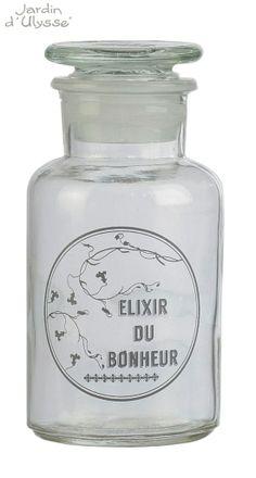 Bouteille Elixir du bonheur - Jardin d'Ulysse Printemps/Été 2014