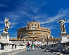 Castel Sant Angelo, Rome was commissioned by the Emperor Hadrian in the year 135 AD to serve as a resting place for he and his family.