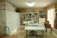quilt room storage cabinets | Storage cabinets from Ikea - sewing room