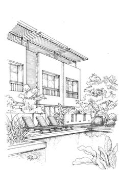 Luxury home decoration ideas diyhomedecoronabudget referral is the perfect high quality home decor with hd resolution. => click image or visit button for best quality and any home decoration image collection on Croquis Architecture, Architecture Concept Drawings, Architecture Sketchbook, Landscape Architecture, Architecture Design, Landscape Sketch, Landscape Drawings, Home Decoration Images, Perspective Sketch