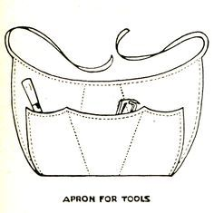 Vintage Crafts and More - Garden Tool Apron Sewing Pattern You are in the right place about Garden Tools vector Here we offer you the most beautiful pictures about the modern Garden Tools you are look Garden Tool Belt, Garden Tools, Vintage Tools, Vintage Crafts, Craft Patterns, Vintage Sewing Patterns, Apron Pattern Free, Pattern Sewing, Sewing Crafts