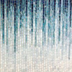 artistictile mosaic glass ombre blue tile blue mosaic tile artistictile blue mosaic tile glass tile ombre tileYou can find Mosaic tiles and more on our website Blue Mosaic Tile, Mosaic Bathroom, Blue Tiles, Mosaic Wall, Mosaic Glass, Mosaic Tile Table, Iridescent Tile, Wall Tiles, Glass Tile Backsplash