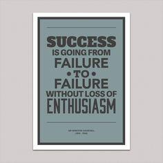 """Success"" Winton Churchill Quote Poster — Getrealpaid"