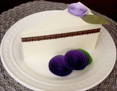 12 DIY Cake Slice Favor Boxes  Paper Cake by MDCardsandGifts,