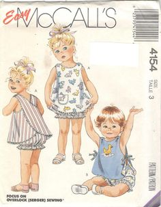 Vintage 1989 Toddlers Reversible Sundress Panties and by mbchills Toddler Sewing Patterns, Baby Sewing, Vintage Sewing Patterns, Sew Baby, Barbie Fashion Sketches, Pajama Pattern, Cool Fabric, Vintage Outfits, Vintage Baby Dresses